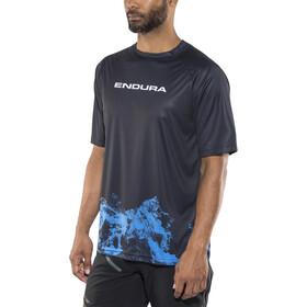 Endura SingleTrack Print LTD Short Sleeve Jersey Men blue